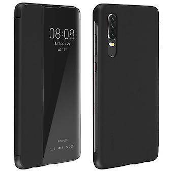Huawei P30 Folio Smart View Full Protection Cover Original Huawei-Black