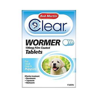Bob Martin jasne Wormer tabletek dla psów dla szczeniąt do 8kg 4 tabletki