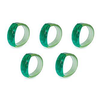 5 X Gel Stone Light-up Bracelet - Green - 5 Items Supplied