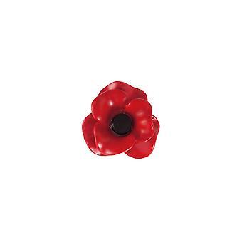 Eternal Collection Red Enamel Poppy Lapel Pin