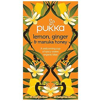 Pukka Lemon, Ginger & Manuka Honey Tea Bags 80