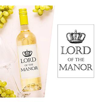 Lord Of The Manor Wine Bottle Label (en anglais)