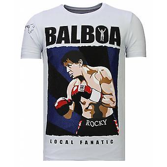Balboa-rhinestone T-shirt-vit