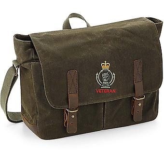 Royal Armoured Corps Veteran - Licensed British Army Embroidered Waxed Canvas Messenger Bag