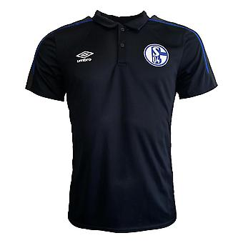 2019-2020 Schalke Umbro Poly Polo Shirt (Black)