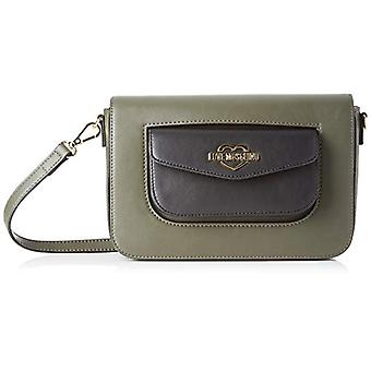 Love Moschino kalf PU vrouwen Crossneck Bag (groen/zwart) 15x5x24 cm (b x H x L)