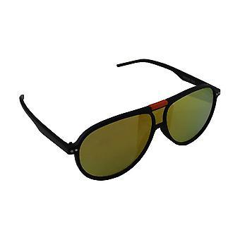 Zonnebril UV 400 Aviator Zwart Oranje Reflecterend Geel1848_2