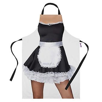 Printed Baking Apron Sexy French Maid Costume Cooking Gifts For Her