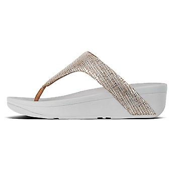 Fitflop™ Lottie Chain Print Toe-post Sandals Silver