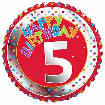 Creative Party Happy 5th Birthday Milestone Balloon