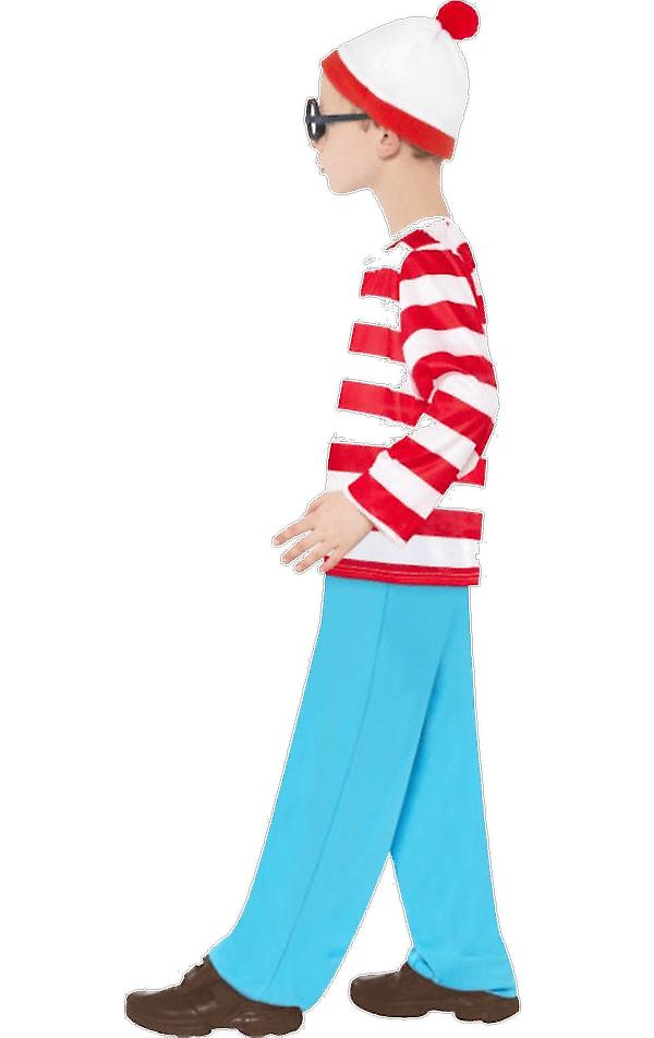 Boys Age 4 - 12 Wheres Wally Waldo Outfit Halloween Book Day Fancy Dress Costume