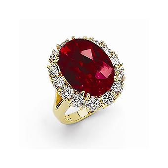 Simulated Ruby Ring Size 6 Jewelry Gifts for Women