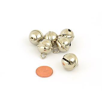 6 Silber 19mm Cat Bell Stil Jingle Bells für Handwerk