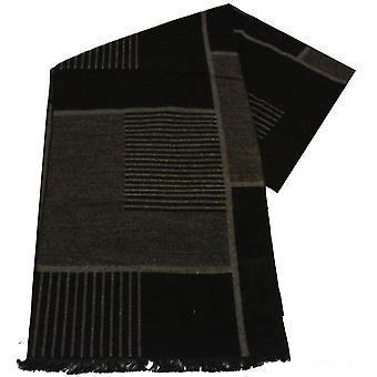 Swole Panda betegeld bamboe sjaal-zwart/grijs
