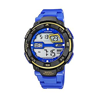 Calypso-digital wristwatch, with digital LCD Display and plastic strapping, color: blue, K5672/7