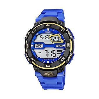 Calypso-digitaal horloge, met digitale LCD-scherm en kunststof Straps, kleur: blauw, K5672/7