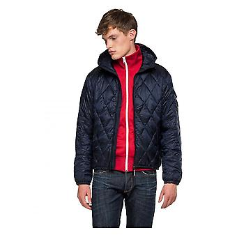 Replay Jeans Replay Mens Duckfree Quilted Jacket Navy
