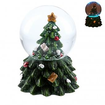 Gisela Graham Mini LED Kerstboom Sneeuwkoepel