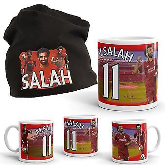 Salah Beanie + mok pakket met print Liverpool