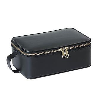 """10.0"""" Zip Around Wash Kit Jewellery Box - Black"""