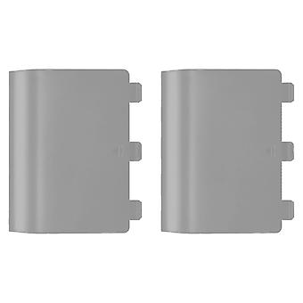Replacement battery back cover holder for grey/green microsoft xbox one controllers & 2 pack grey