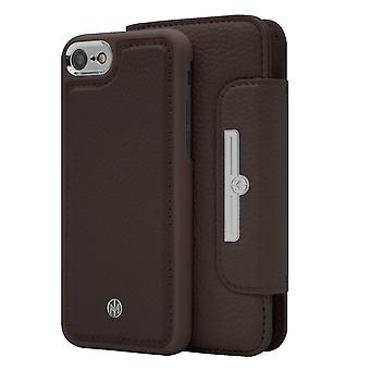 Marvêlle iPhone 6/6s/7/8 Magnetic Case & Wallet Dark Brown Chic Basic