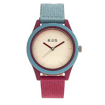 Crayo Pleasant Unisex Watch - Powder Blue/Fuchsia