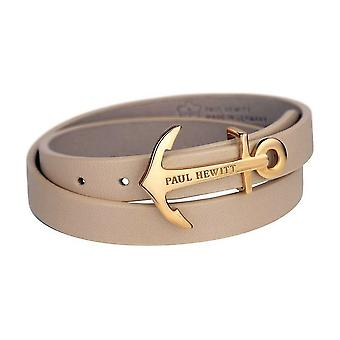 Paul Hewitt wrap bracelet North Bound IP gold/ Hazelnut 37.5 PH-WB-G-22S