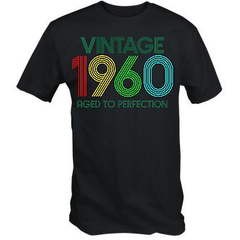 Vintage 1960 aged to perfection 60th birthday t shirt sixtieth 2020 retro gift idea