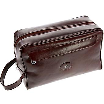 Hans Kniebes Framed Toiletry Leather Bag