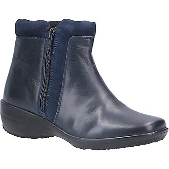 Fleet & Foster Womens Mona Zip Ankle Boot Navy