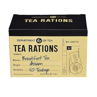 War time memories english breakfast tea rations 40 teabag carton