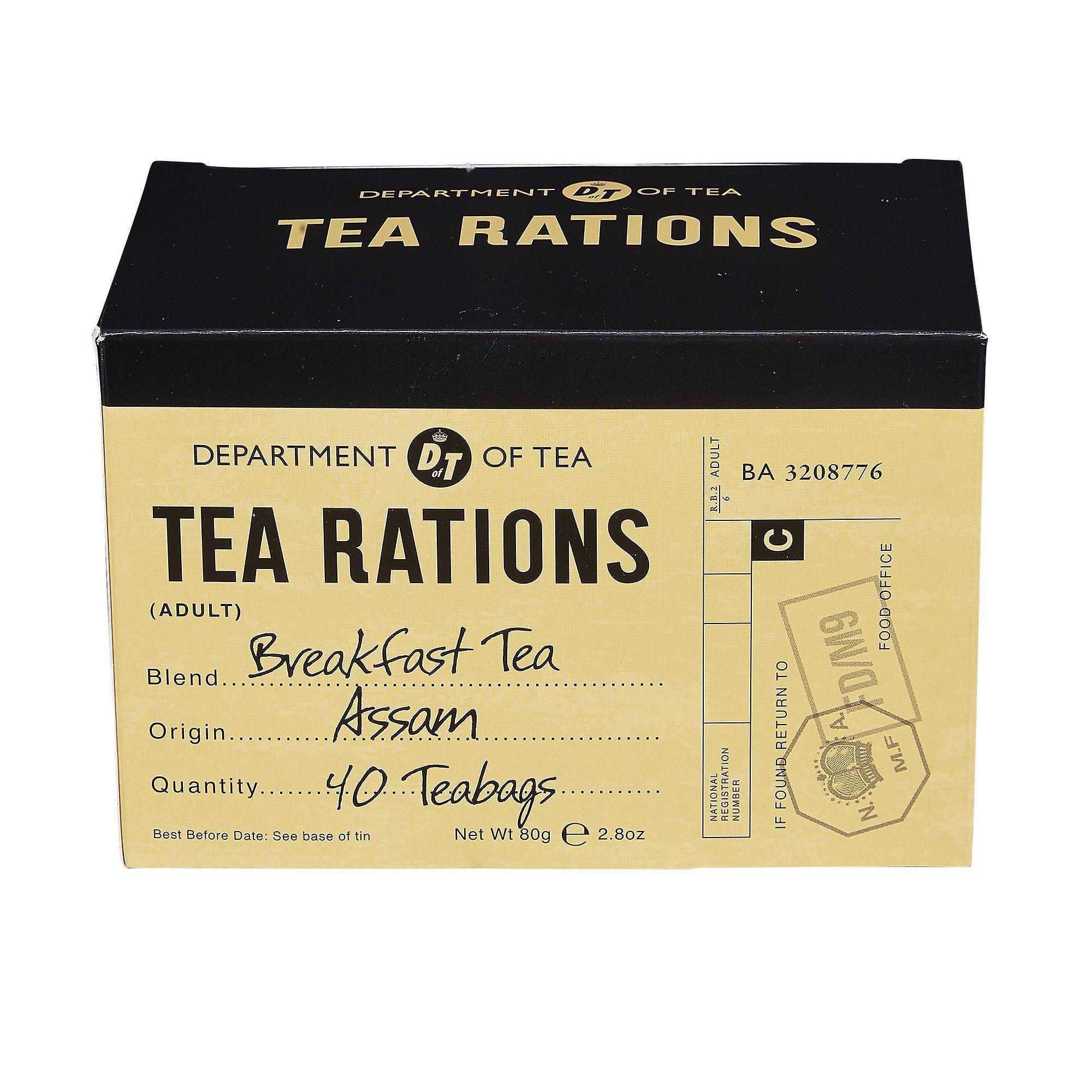 War time memories english breakfast tea rations 40 teabag carton