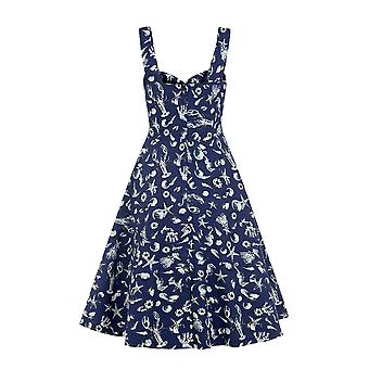 Collectif Vintage Women's 1950's Seashell Print Adele Dress
