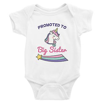 Promowane do Big Sister Baby Announcement Baby Body Gift White