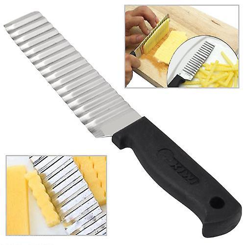 Kabalo Stainless Steel Carrot Vegetable Dough Crinkle Wavy Potato Chip Cutter Slicer Garnishing Tool