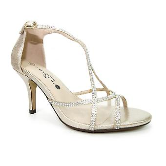 Lunar Ruthin Wide Fit Strappy Heel