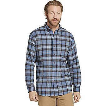 Dam Good Men's Long Sleeve Flannel Shirt Small Blue, Blue Horizon, Size Small