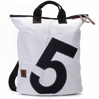 360 degree backpack bag Ketsch white with number black canvas bag