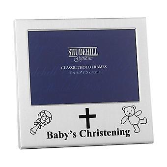 Shudehill Giftware Babys Christening 5 X 3.5 Photo Frame