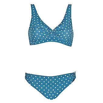 Sunflair 21117-26 Femmes-apos;s Rétro Pearls Blue Spotted Soft Cup Bikini Set
