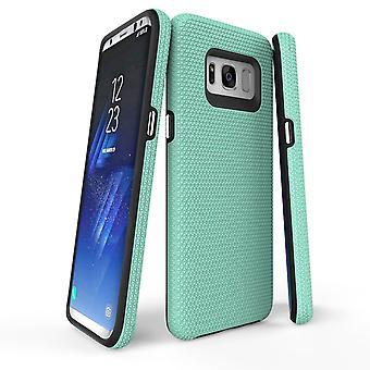 Samsung Galaxy S8 tapauksessa minttu haarniska suojaava kestävä ohut puhelimen kansi