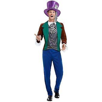 Mad Hatter puku aikuinen Multi