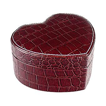 Heart-shaped Jewellery box - Burgundy