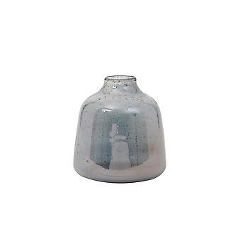 Light & Living Vase 20.5x23cm Deoni Glass Stone Finish Blue