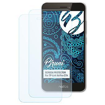 Bruni 2x Screen Protector kompatibel med TP-Link Neffos C7A Beskyttende Film