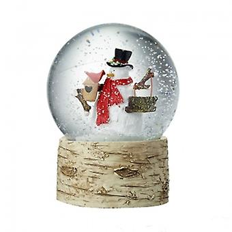 Heaven Sends Let It Snow Snowman Snowglobe
