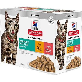 Hill's Feline Adult Perfect Weight Multipack Envelopes (Cats , Cat Food , Wet Food)