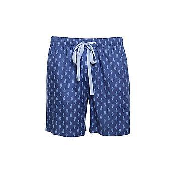 Cyberjammies 6455 Men's Billy Blue Paisley Print Cotton Woven Pyjama Short