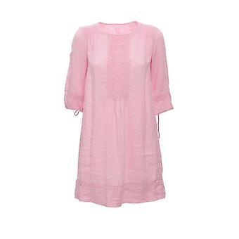120% N0w4745000b317000n085 Women's Pink Linen Dress